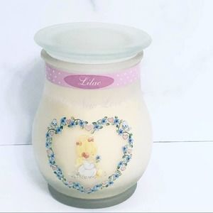 Vintage Precious Moments Jar Glass Candle Retired